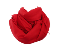 Load image into Gallery viewer, silk wool pashmina red