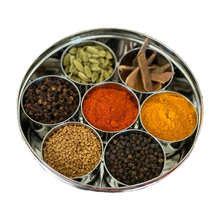 Load image into Gallery viewer, steel spice box indian masala dabba