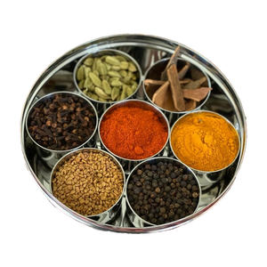steel spice box indian masala dabba