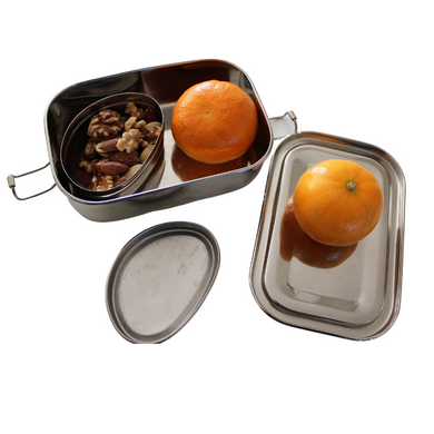 steel lunch box rectangle