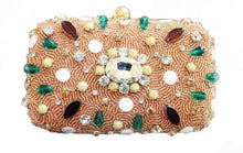 Load image into Gallery viewer, beaded clutch bag stone studded
