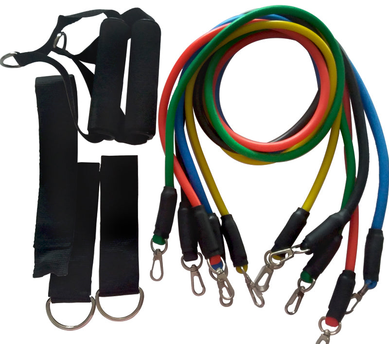 Resistance Bands 11 Pcs Set - For Full Body Workout!