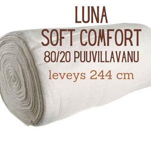 Luna, Soft and Comfort BY96, 80/20 Cotton-Polyester Batting 244 cm