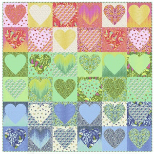 Faded Hearts Free Quilt Pattern