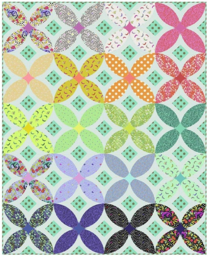 Tropical Flora Free Quilt Pattern