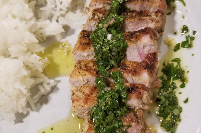 Grilled Pork with Chimichurri Sauce