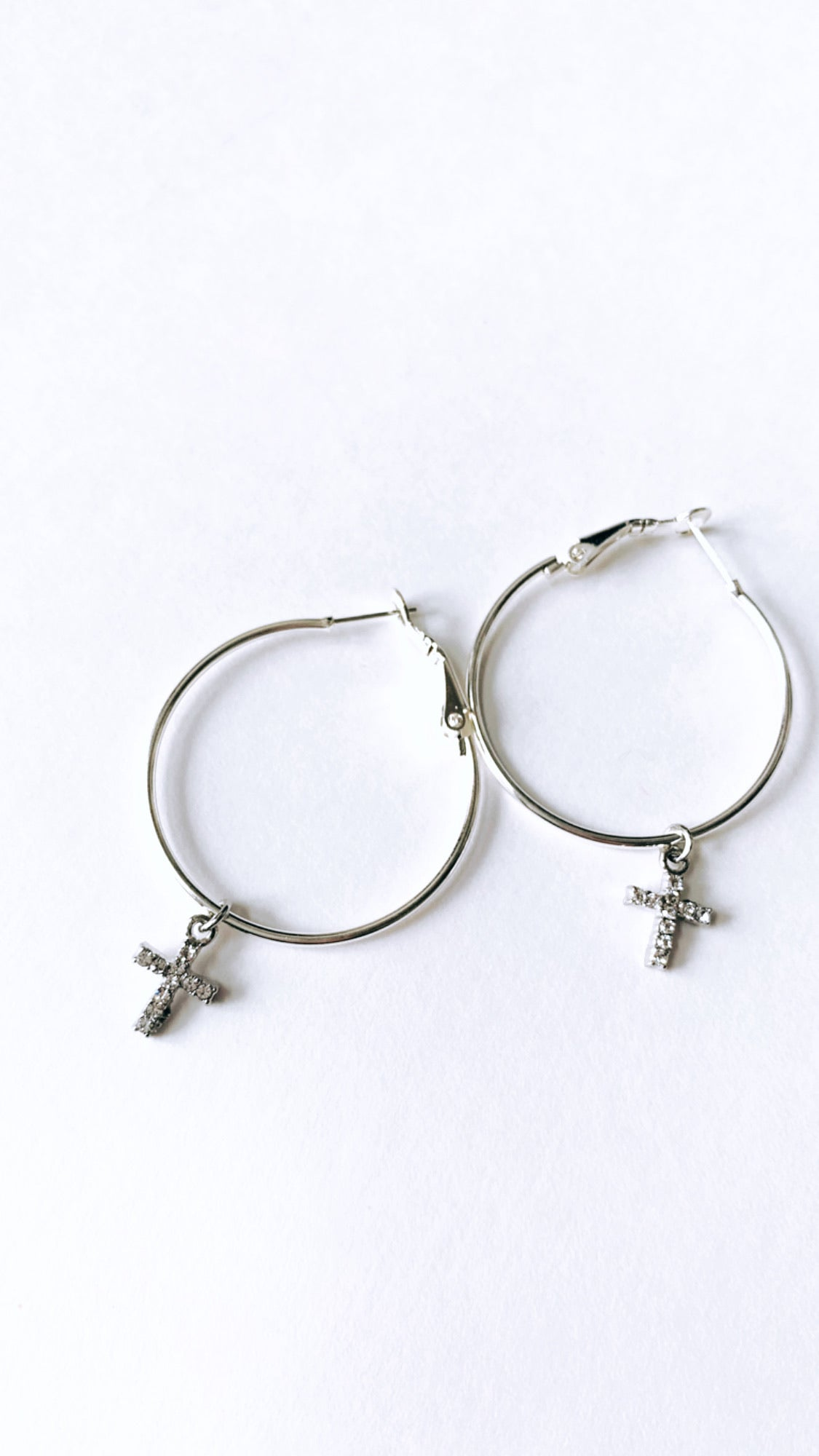Dainty x Dona Cross hoops