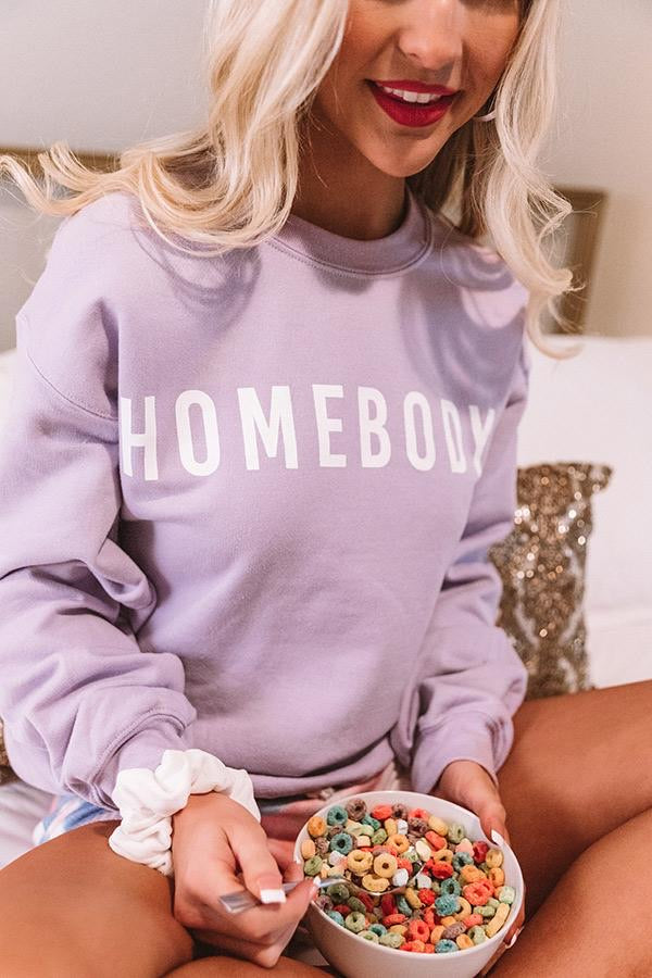 Lavender Homebody crewneck