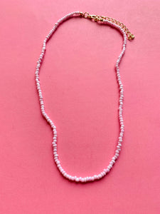Retro necklace- Small Pearls