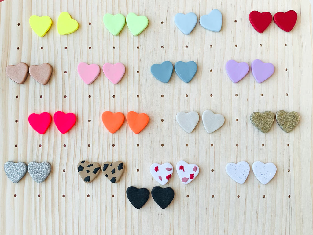 Conversation Heart Candy Studs