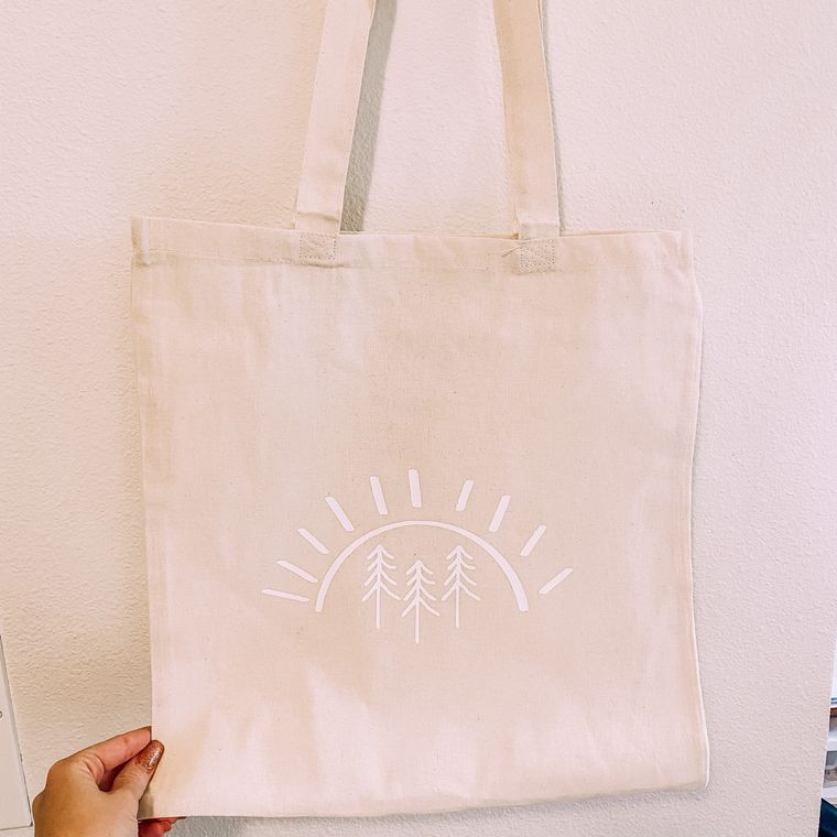 Pine Tree Sun Tote Bag