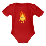 Baby funny flame borst rompertje