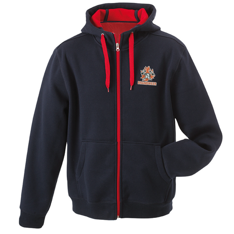 Hooded sweater binnenzijde fleece