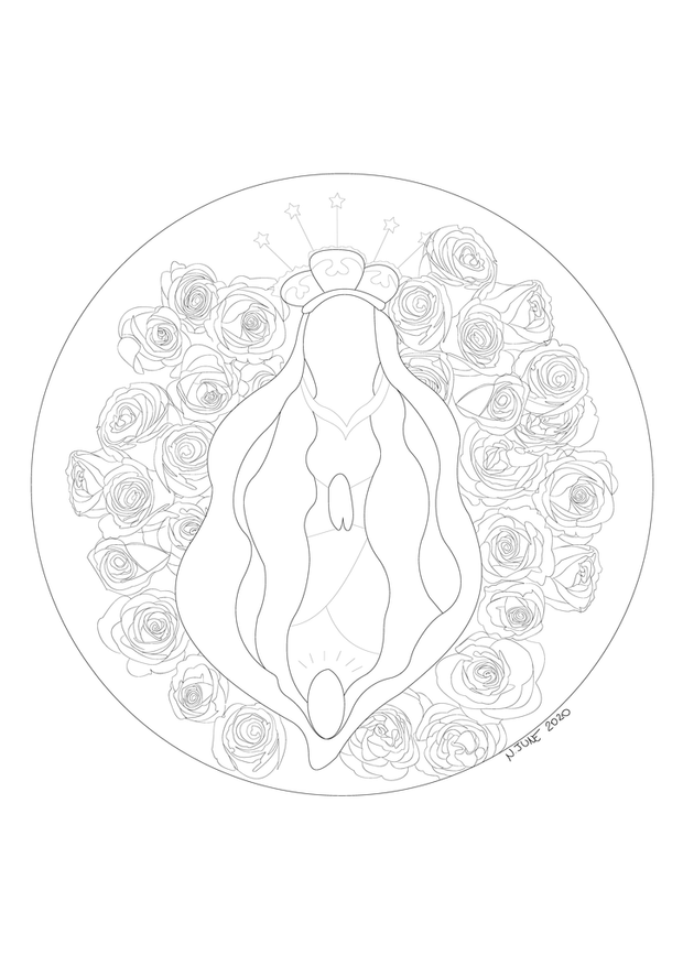 Izzy FREE Colouring Pages Colouring Pages Saint Vulva