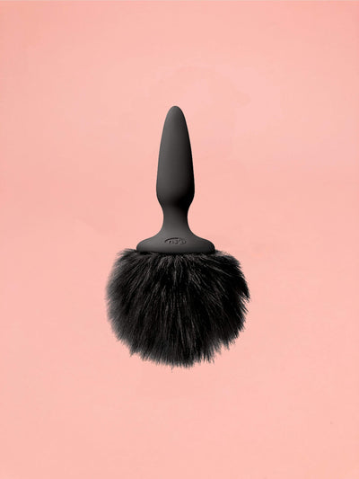 NS Novelties Mini Bunny Tail Butt Plug Black