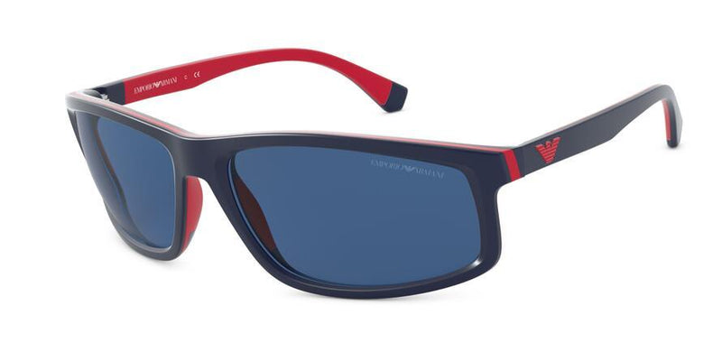 EA4144 - 575480 Matte Blue/Red Rubber - EyecareatHome