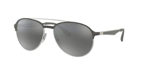 RB3606 - 912688 Silver On Top Matte Grey - EyecareatHome