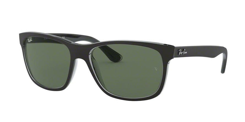 RB4181 - 6130 Top Matte Black On Trasp Grey - EyecareatHome