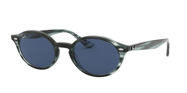 RB4315 - 643280 Stripped Blue Havana - EyecareatHome