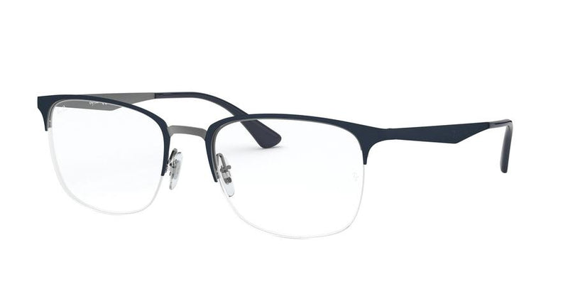 RX6433 - 3041 Top Matte Blue On Gunmetal - EyecareatHome