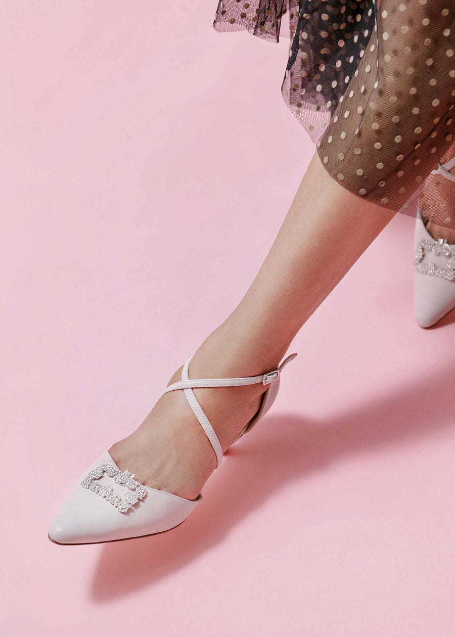 The Sweet Tart Strappy Heels (Baby Pink)
