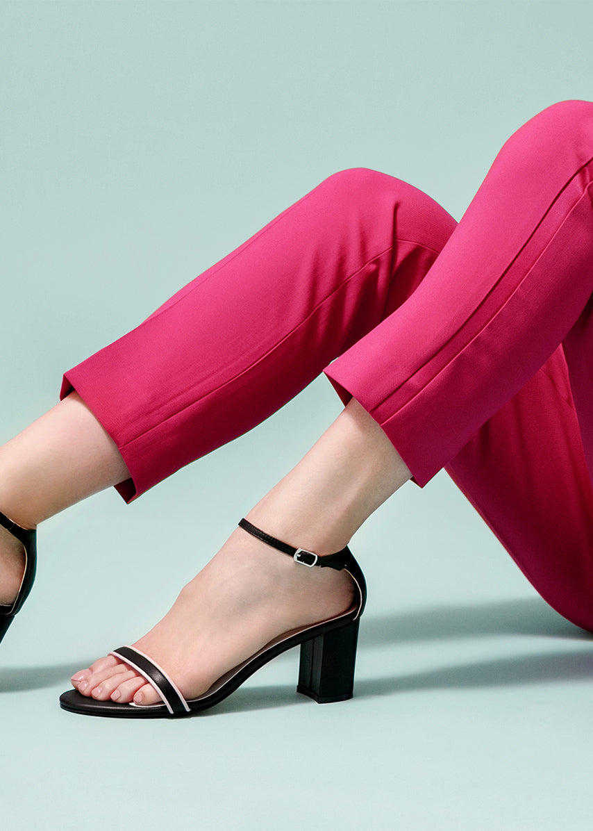The Tootsie Heels (Black/Pink)