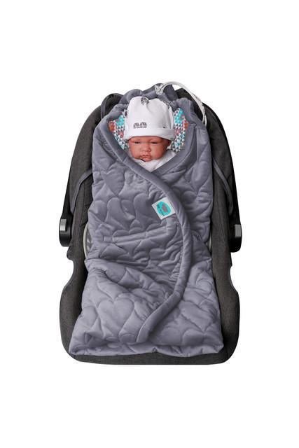 Car Seat Blanket Graphite/Ethnic - MyLullaby