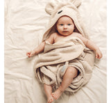BabySteps Hooded Bamboo Towel (Dusty Pink)