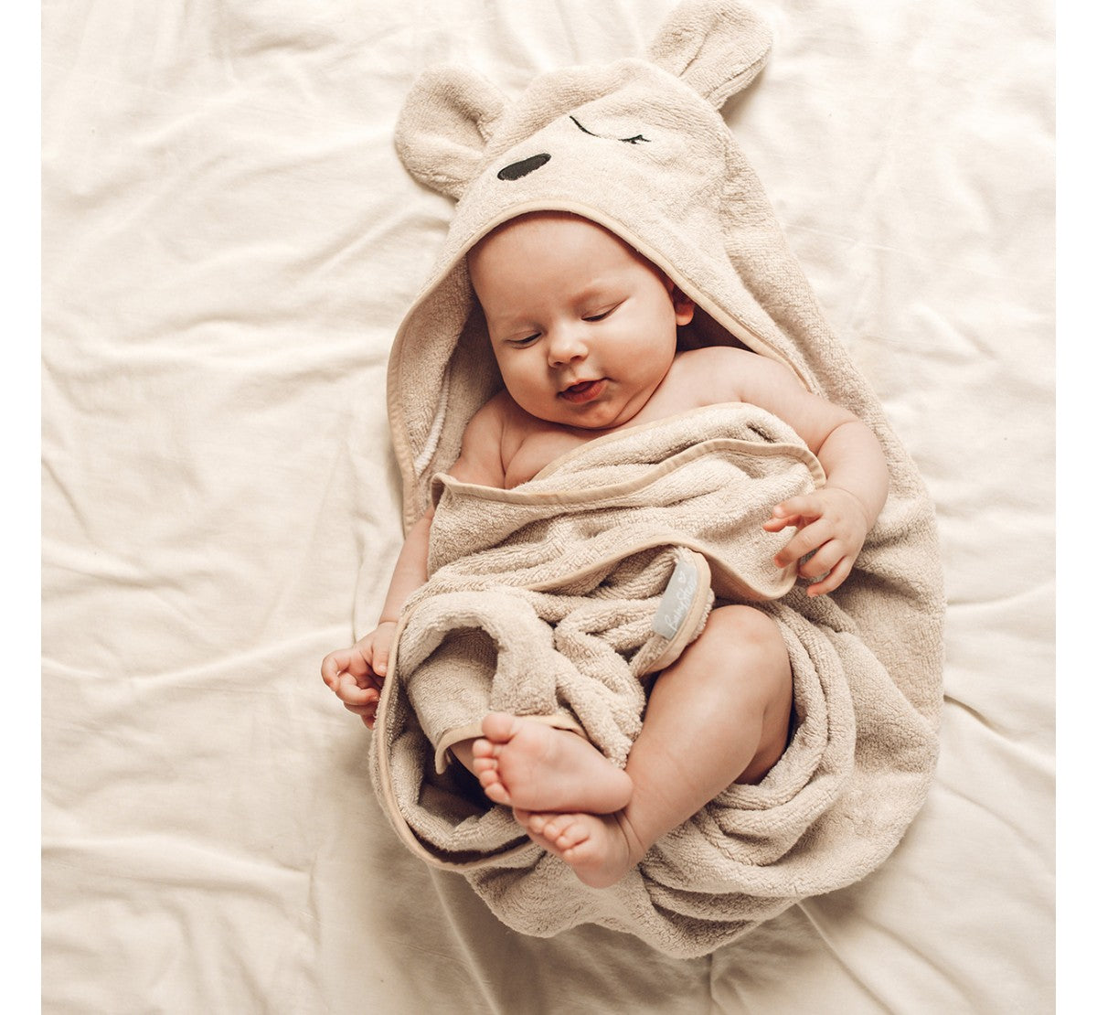 BabySteps Hooded Bamboo Towel (Ecru)