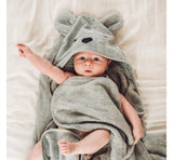 BabySteps Hooded Bamboo Towel (Grey)