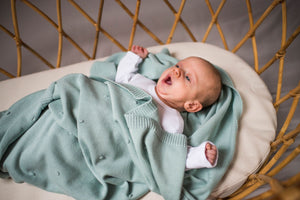 Popcorn Cotton Blanket Pistacchio - MyLullaby