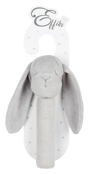 Effiki Bunny Rattle Grey - MyLullaby