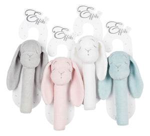 Effiki Bunny Rattle Pink - MyLullaby