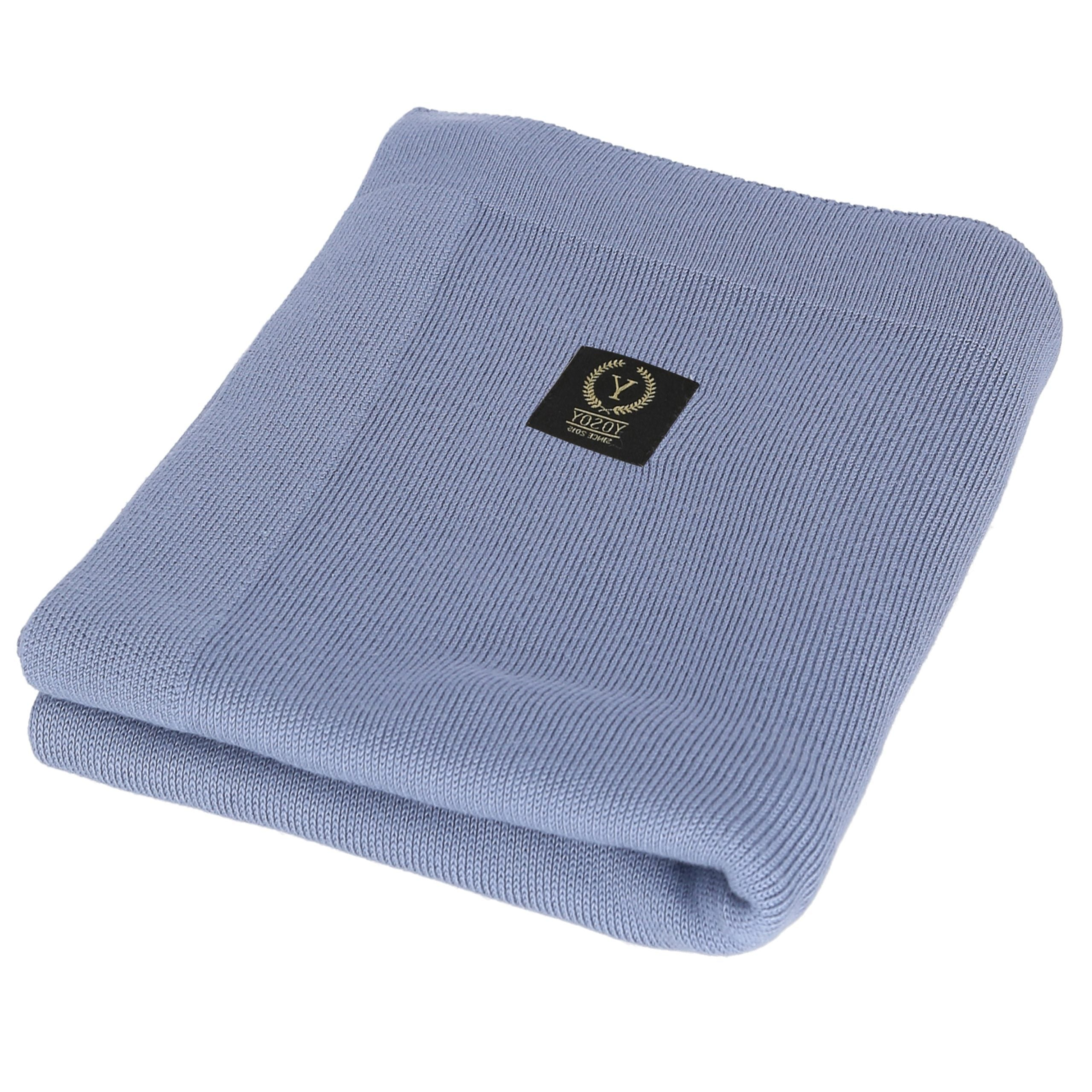 Light Bamboo Blanket Dusty Blue - MyLullaby