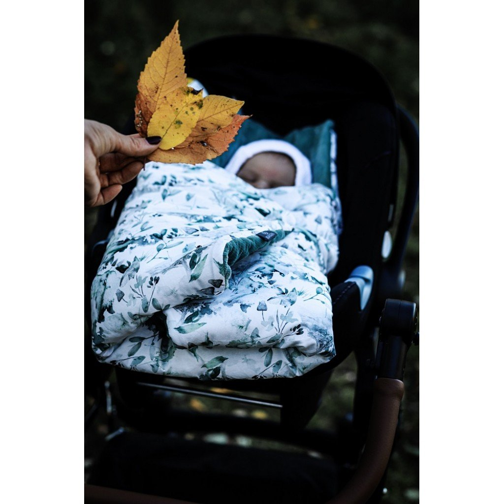 Car Seat Blanket Sage Green - MyLullaby