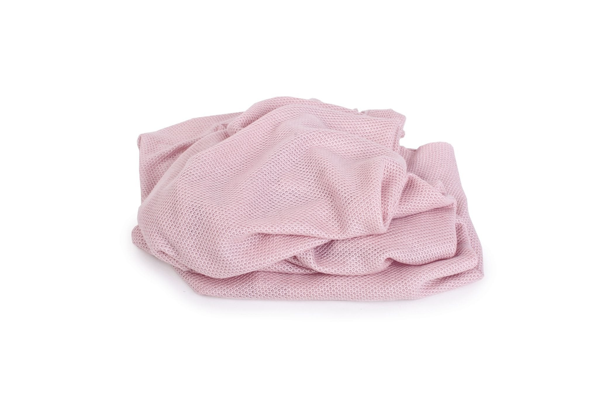 Light Knitted Bamboo Blanket Vintage Pink - MyLullaby