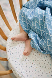 Bamboo Swaddle Blanket Blue Ocean - MyLullaby