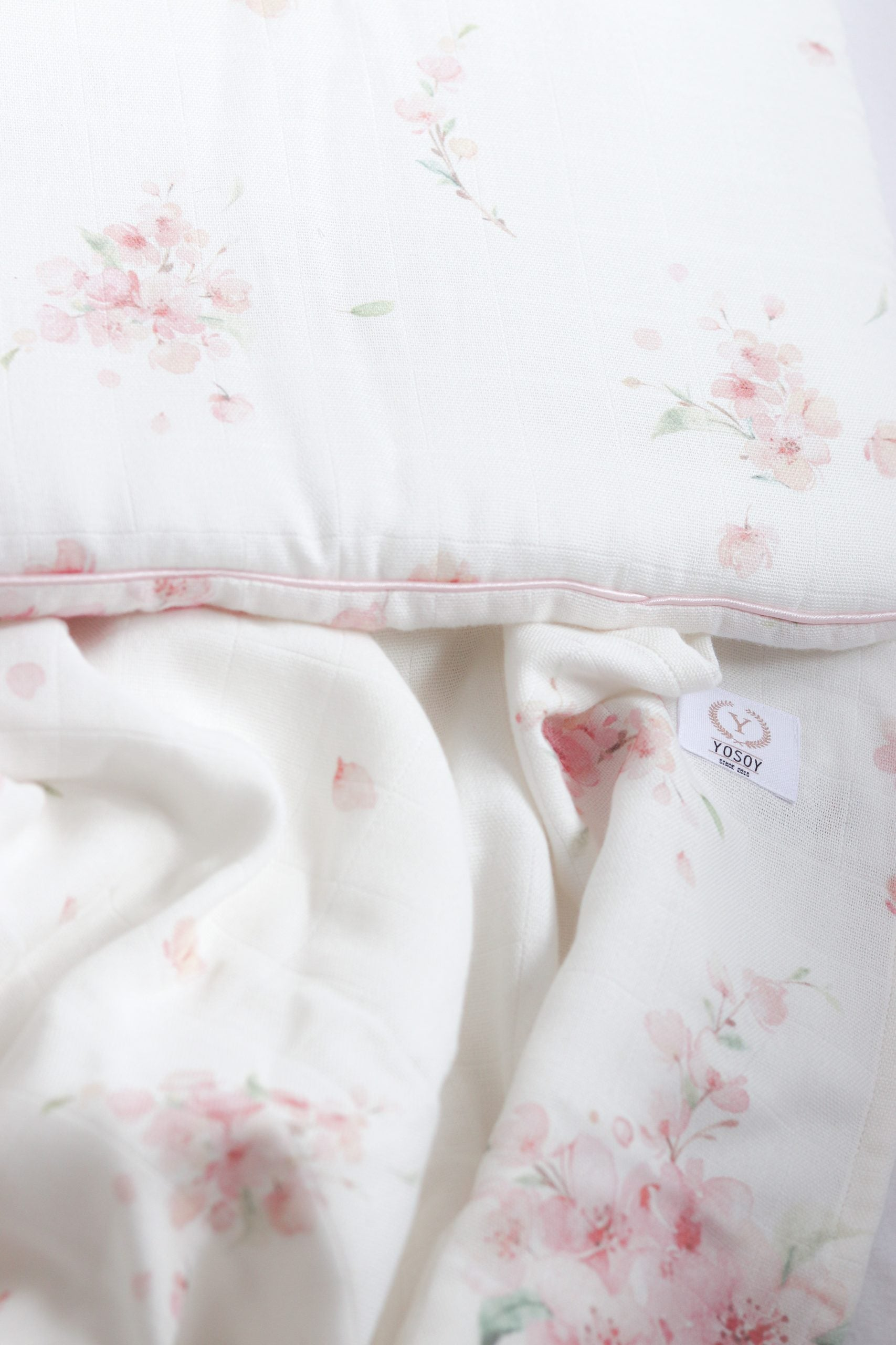 Muslin Swaddle Blanket Japanese Flowers - MyLullaby