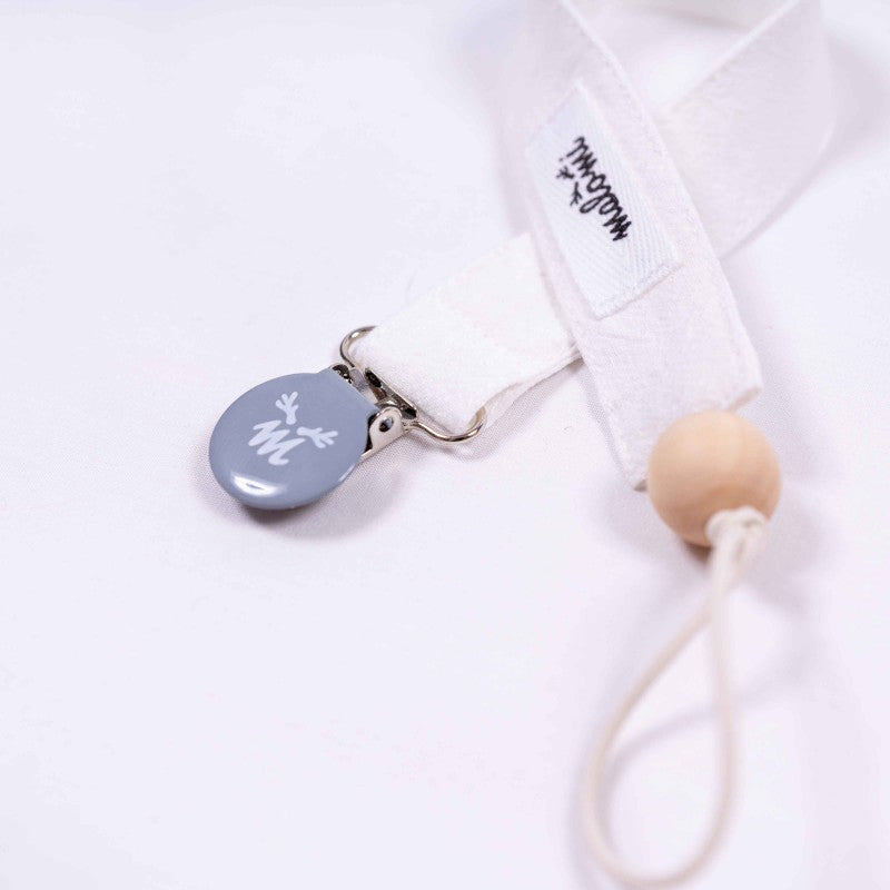 Washed Cotton Dummy Clip Ecru - MyLullaby