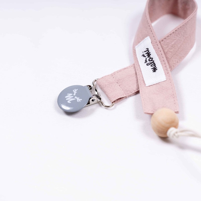 Washed Cotton Dummy Clip Pink - MyLullaby