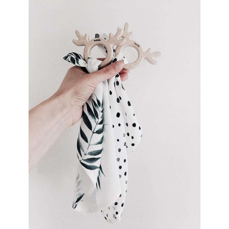 Teether/Muslin Toy Palm - MyLullaby