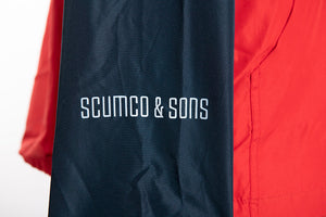 Scumco & Sons Lightweight pullover embroidered jacket, close up