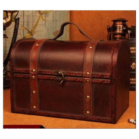 Pirate-chest-in-wood