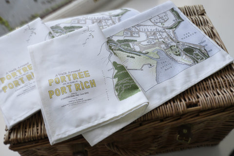 TEA TOWEL - A WALK AROUND PORTREE - J. MAIZLISH MOLE 2013