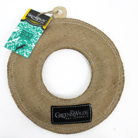 Green & Wilds - Natural Dog Toy - Fling Ring