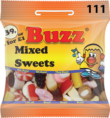 111 Mixed Sweets 18 x 39p