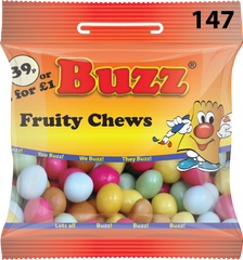 147 Fruity Chews 18 x 39p