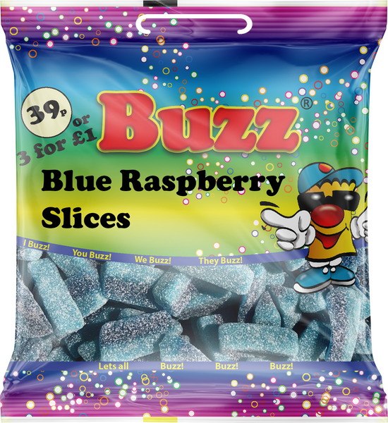 149 Blue Raspberry Slices 18 x 39p