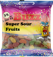 150 Super Sour Fruits 18 x 39p