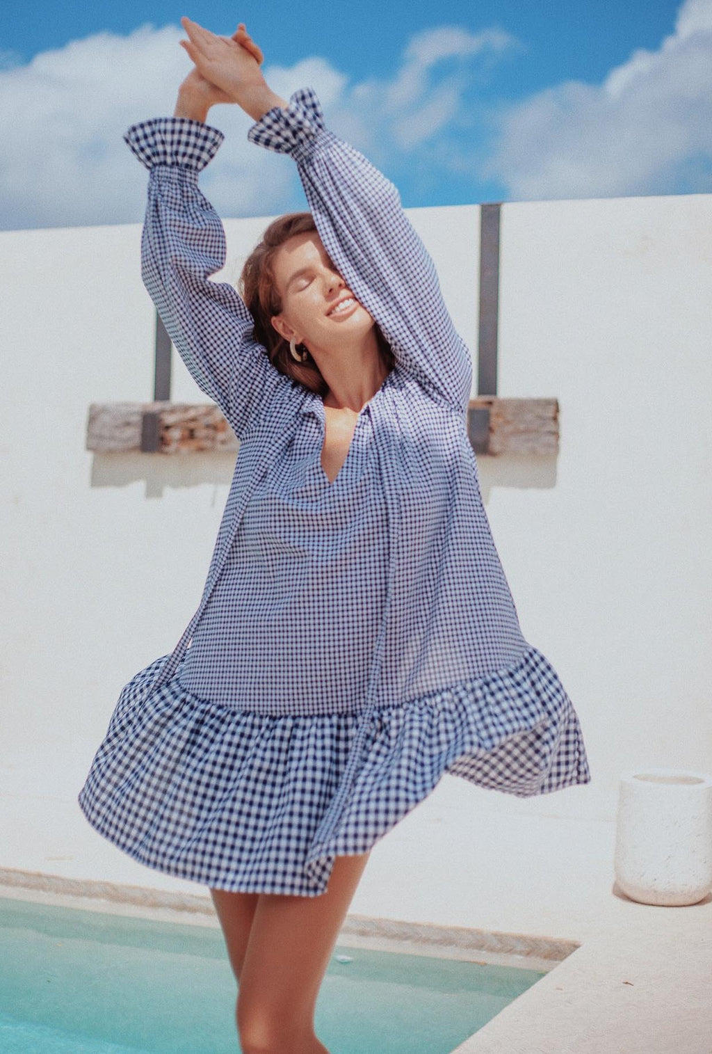 LJC Designs Oliver Dress in Mixed Gingham
